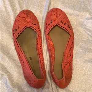 American Eagle Coral Flats size 12